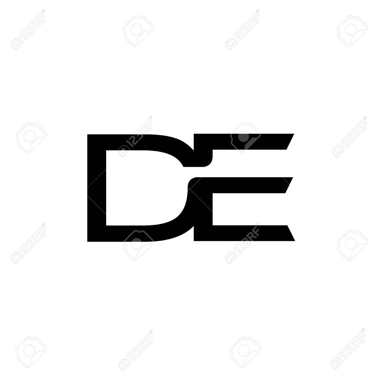 de letter logo design