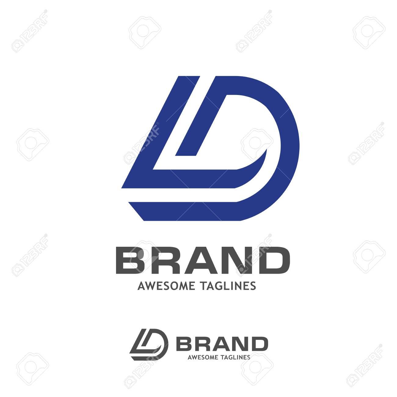 dl letter logo design