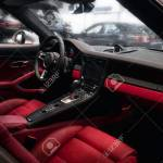 Red Leather Interior Of Sports Car Stock Photo Picture And Royalty Free Image Image 97767934