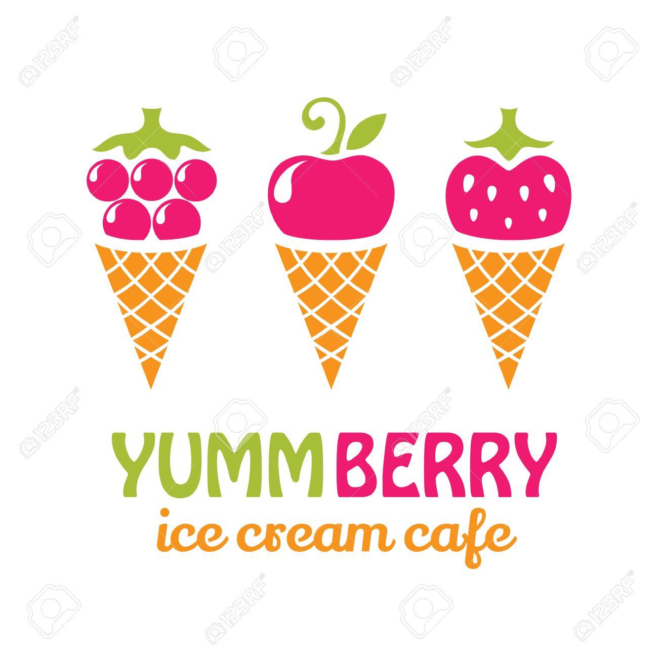 fruit ice cream logo