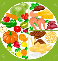 healthy eating food plate healthy nutrition balance diagram stock vector 69463352 [ 1300 x 1300 Pixel ]
