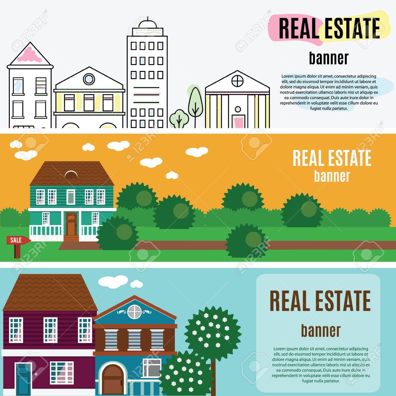 real estate horizontal banners