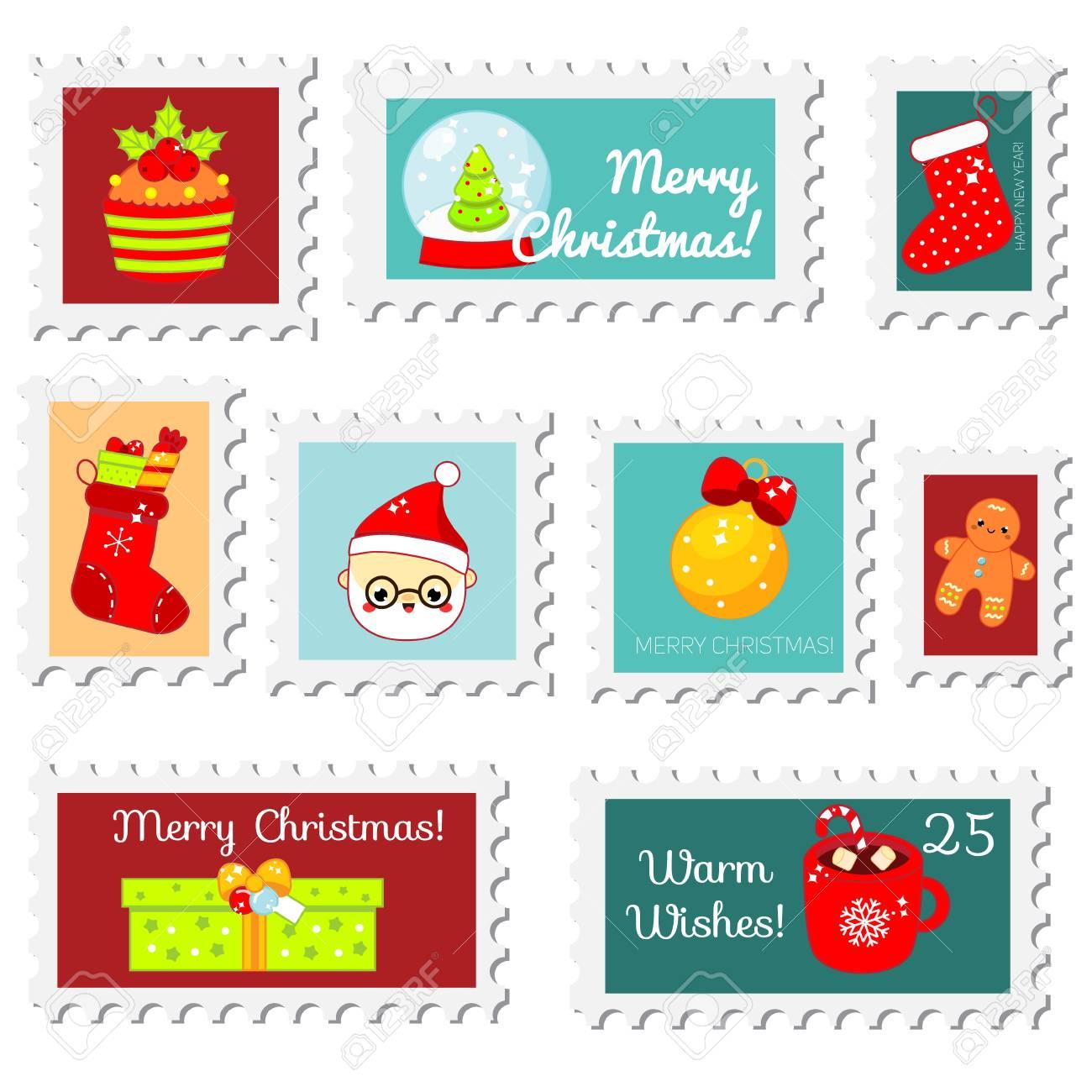 chiristmas postal stamps new