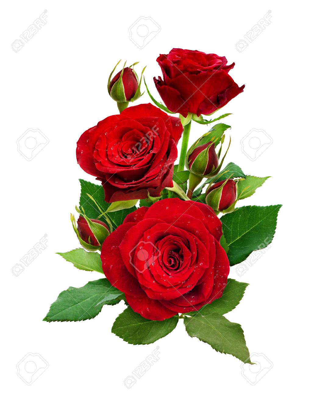 romantic arrangement with red