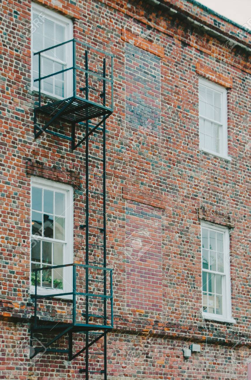 Fire Escape Ladder On Brick Building Stock Photo Picture And Royalty Free Image Image 43325317
