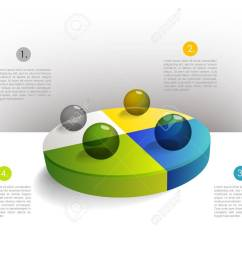 presentation template circle graph with a 3d glass balls pie chart diagram infographics web elements stock [ 1300 x 1039 Pixel ]