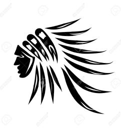 head of indian chief black silhouette for your design stock vector 30683250 [ 1300 x 1300 Pixel ]