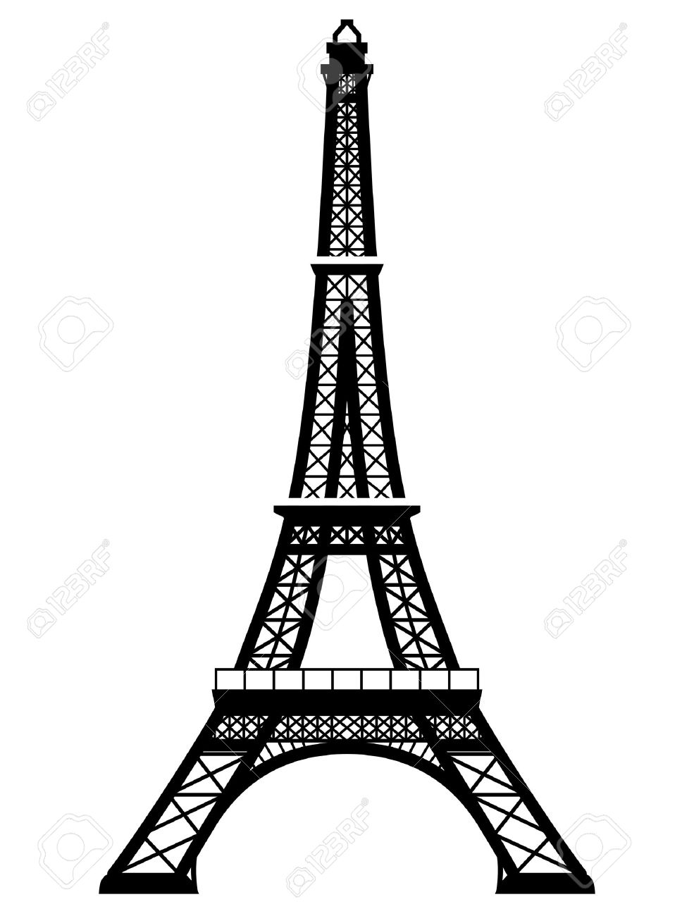 french eiffel tower in