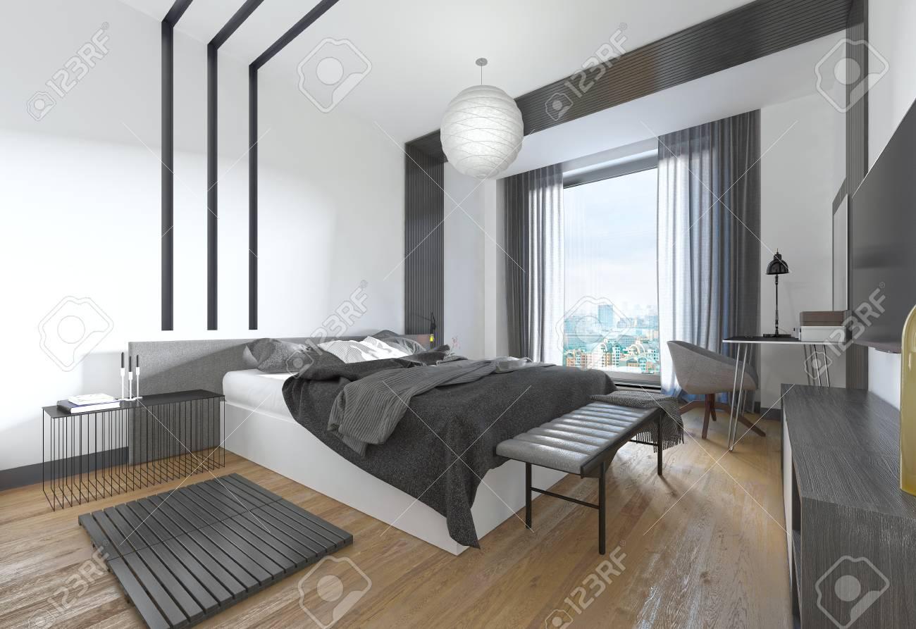 Chambre Moderne Noir Et Blanc   Chambre A Coucher Moderne 2017 Blanc ...
