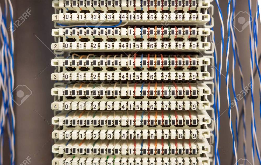 medium resolution of telephone switchboard panel and wires stock photo picture and telephone wiring home telephone wiring panel