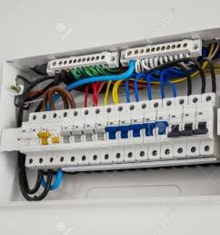 consumer unit and circuit breaker installed on the house wall stock photo 97147842 [ 1300 x 866 Pixel ]