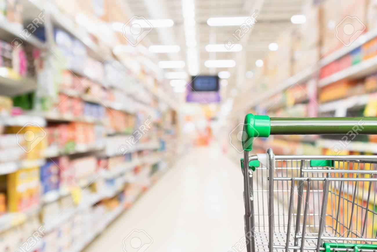 empty green supermarket shopping