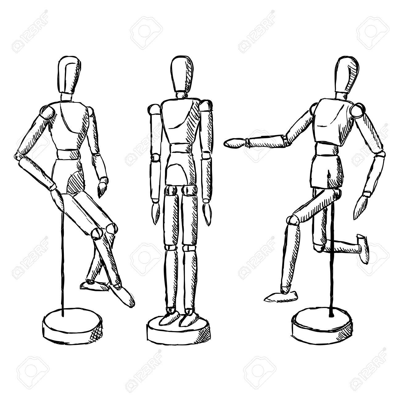 wooden mannequin art figurine