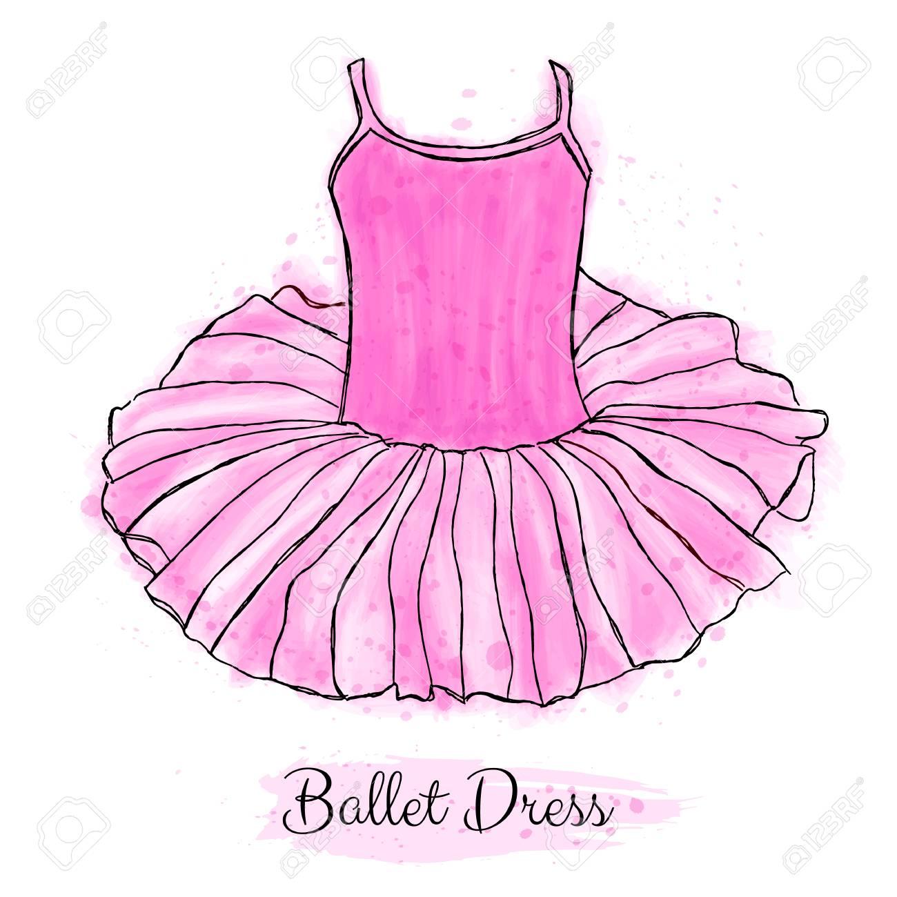 pink ballerina tutu dress
