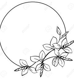 round flower frame stock vector 9056361 [ 1300 x 1291 Pixel ]