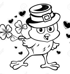 el pollo divertido en el sombrero de duende clipart foto de archivo 53443935 [ 1300 x 1167 Pixel ]