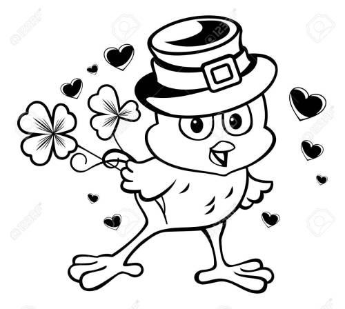 small resolution of el pollo divertido en el sombrero de duende clipart foto de archivo 53443935