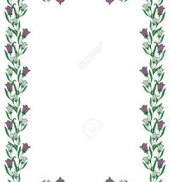 color frame with abstract flowers vector clip art stock vector 60092784 [ 872 x 1300 Pixel ]