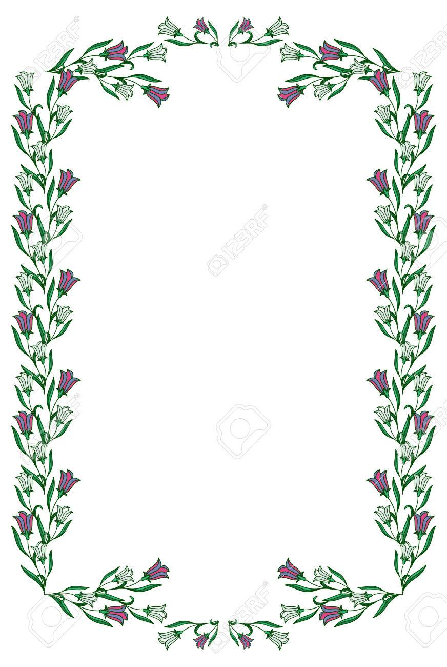 medium resolution of color frame with abstract flowers vector clip art stock vector 60092784