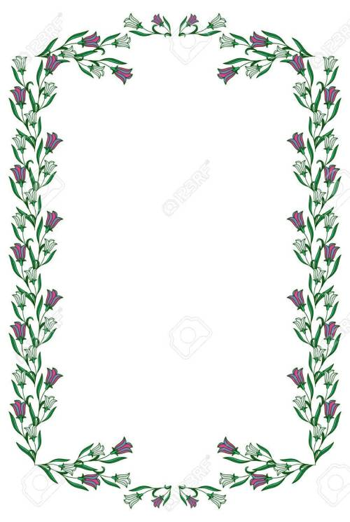 small resolution of color frame with abstract flowers vector clip art stock vector 60092784