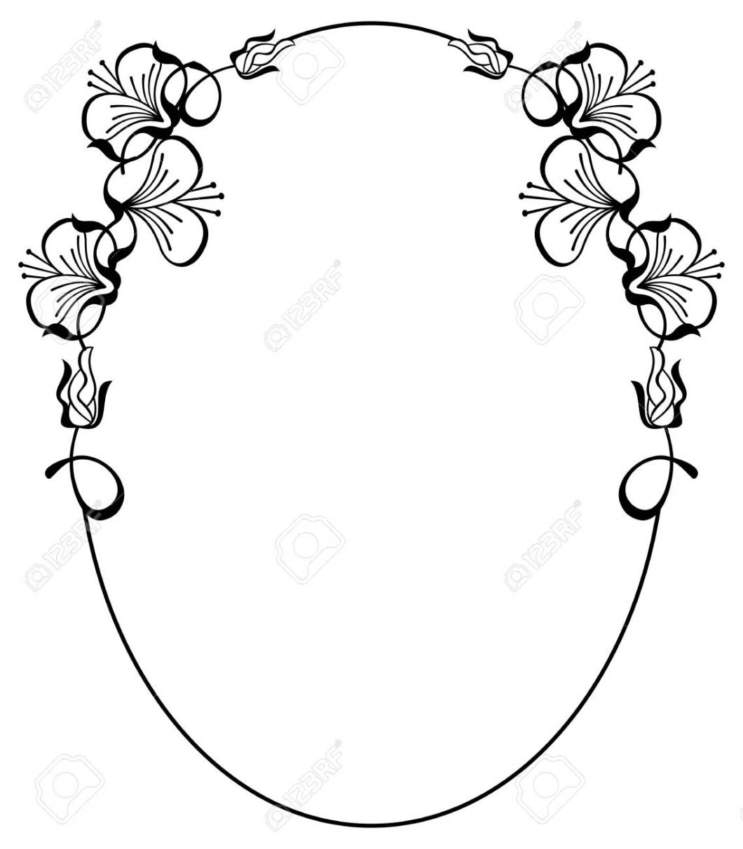 Oval Picture Frame Template Vector | Siteframes.co