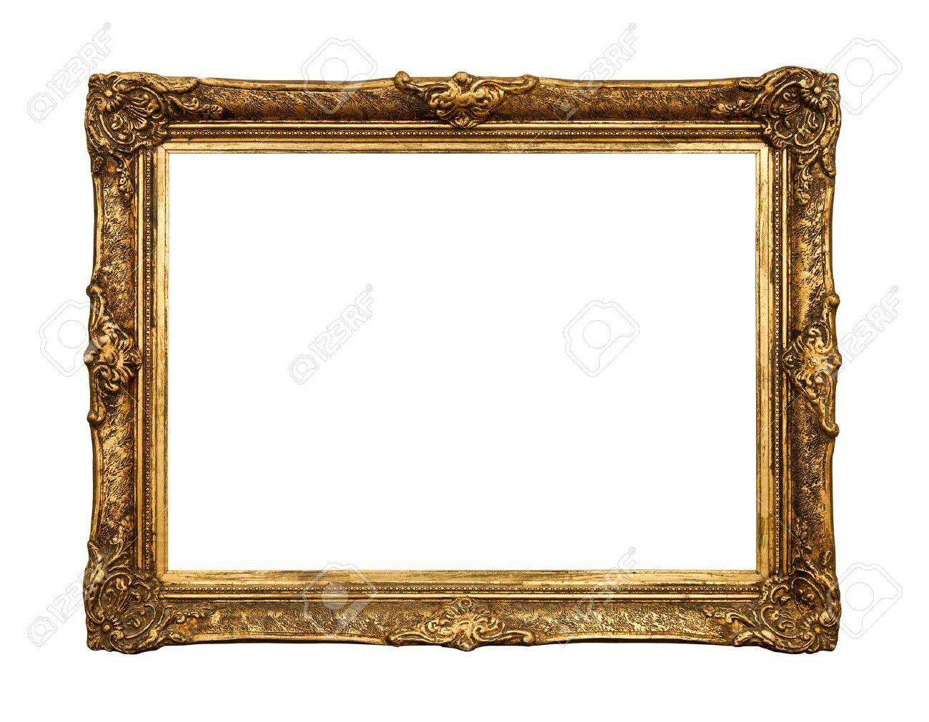 ancien cadre dore miroir retro n n 20 isole sur fond blanc