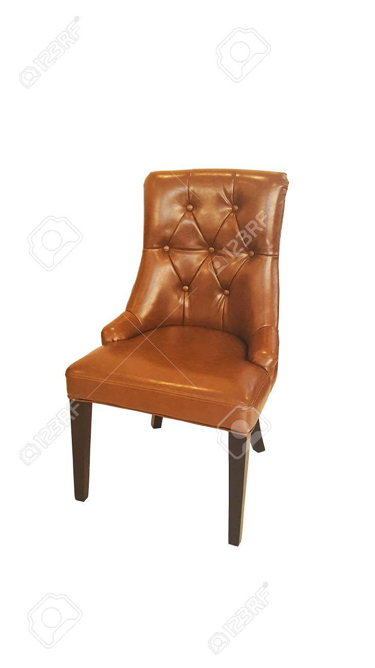 vintage arm chair bean bag chairs for boys old styled brown armchair isolated on white background stock photo 72743295