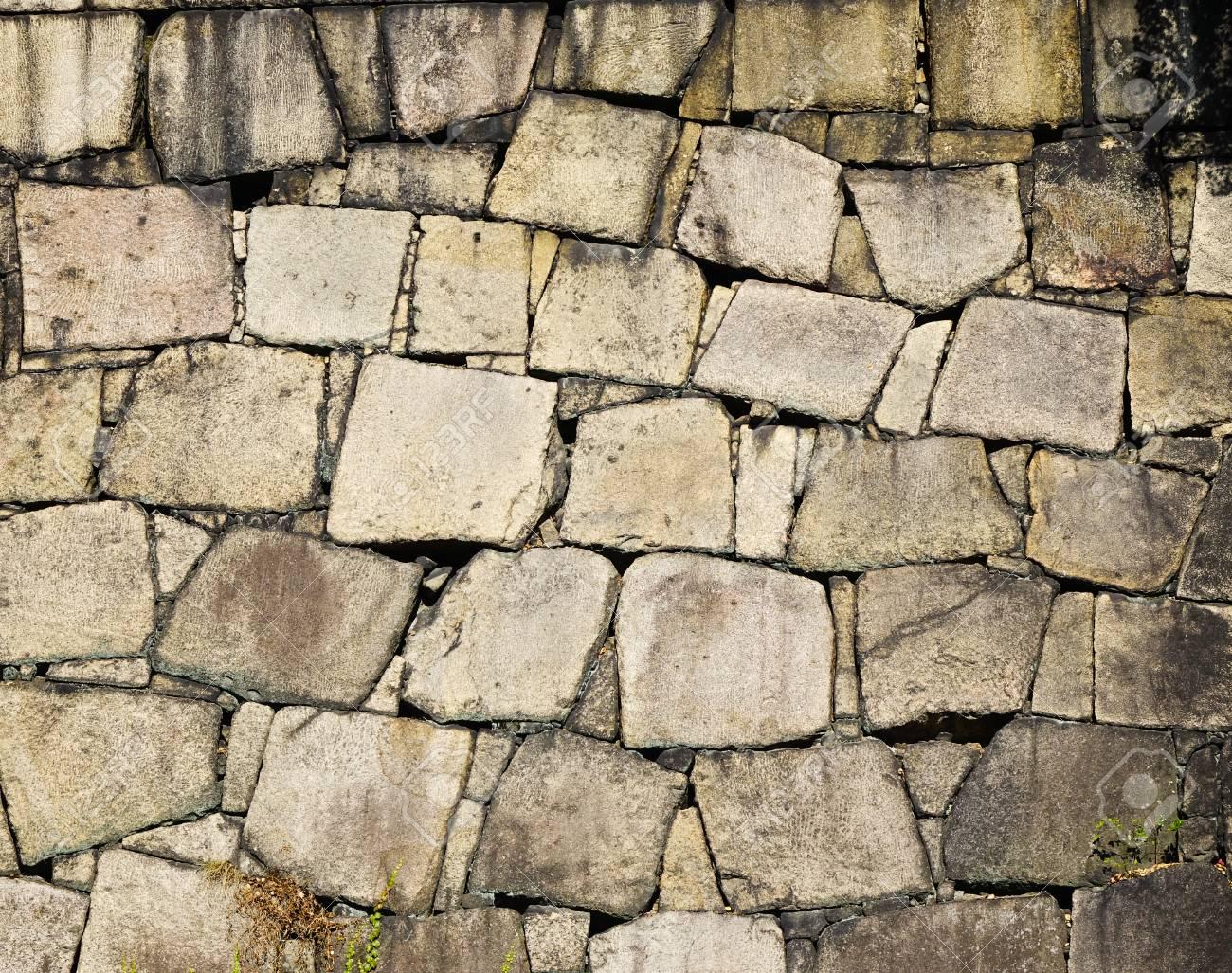 mur de pierre ancienne du chateau japonais ferme