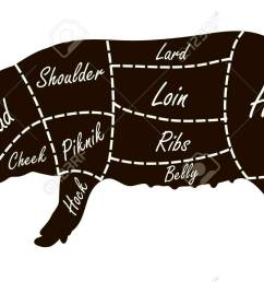 pork cuts butcher diagram royalty free cliparts vectors and stock horse meat butcher diagram pork butcher diagram [ 1300 x 780 Pixel ]