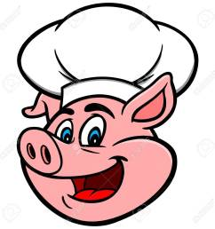pig with chef hat [ 1300 x 1300 Pixel ]