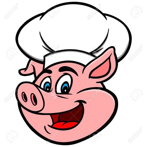small resolution of pig with chef hat