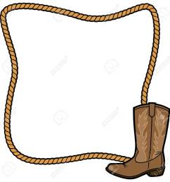 rope frame and cowboy boot stock vector 57875023 [ 1300 x 1300 Pixel ]