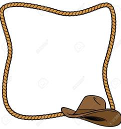 rope frame and cowboy hat stock vector 57875022 [ 1300 x 1300 Pixel ]