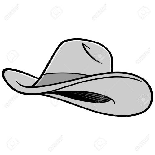 small resolution of cowboy hat illustration stock vector 71439796
