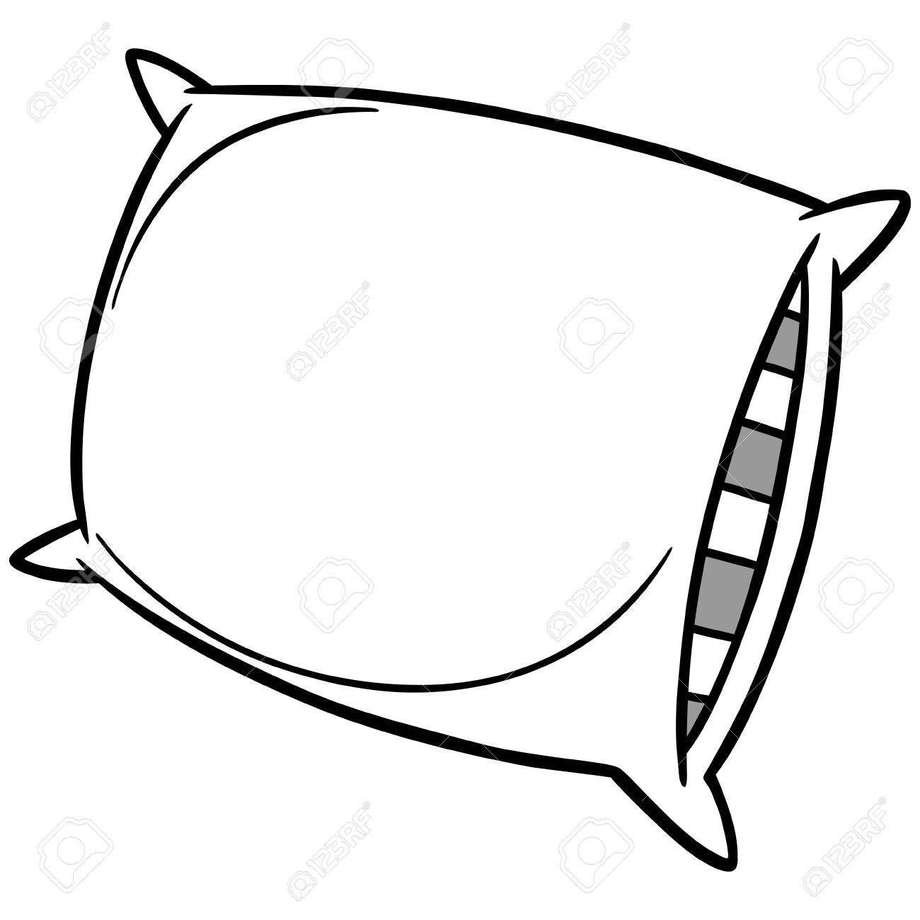 pillow party illustration