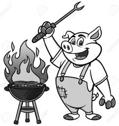 bbq grilling pig illustration stock vector 84578986 [ 1300 x 1300 Pixel ]
