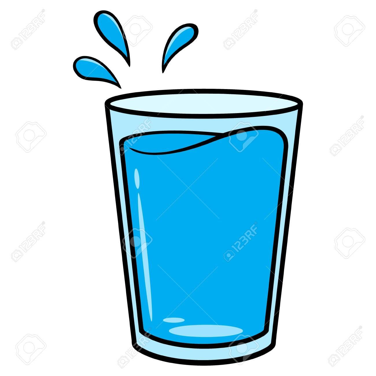 glass of water cartoon a vector cartoon illustration of a glass
