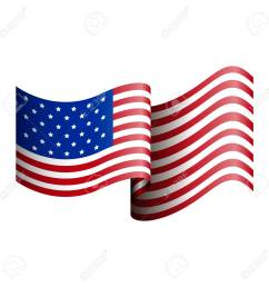 isolated american flag on a white background vector illustration stock vector 68918206 [ 1300 x 1300 Pixel ]