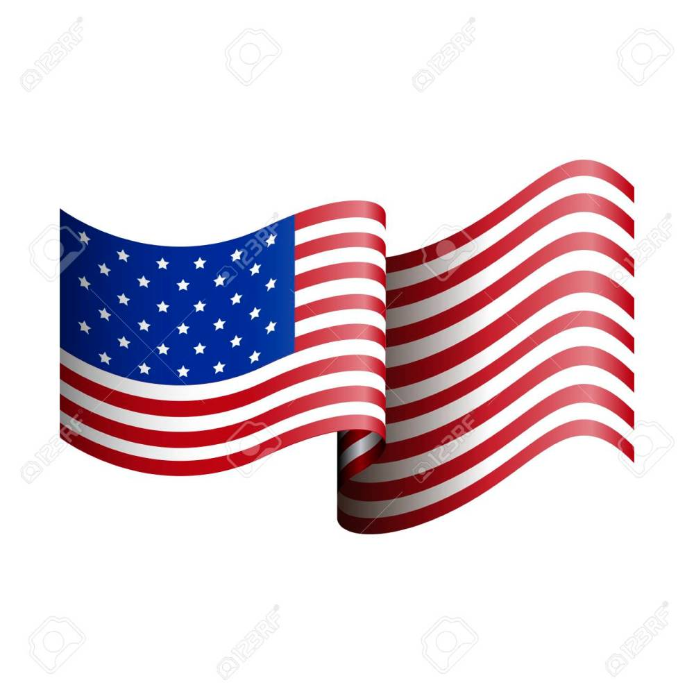 medium resolution of isolated american flag on a white background vector illustration stock vector 68918206