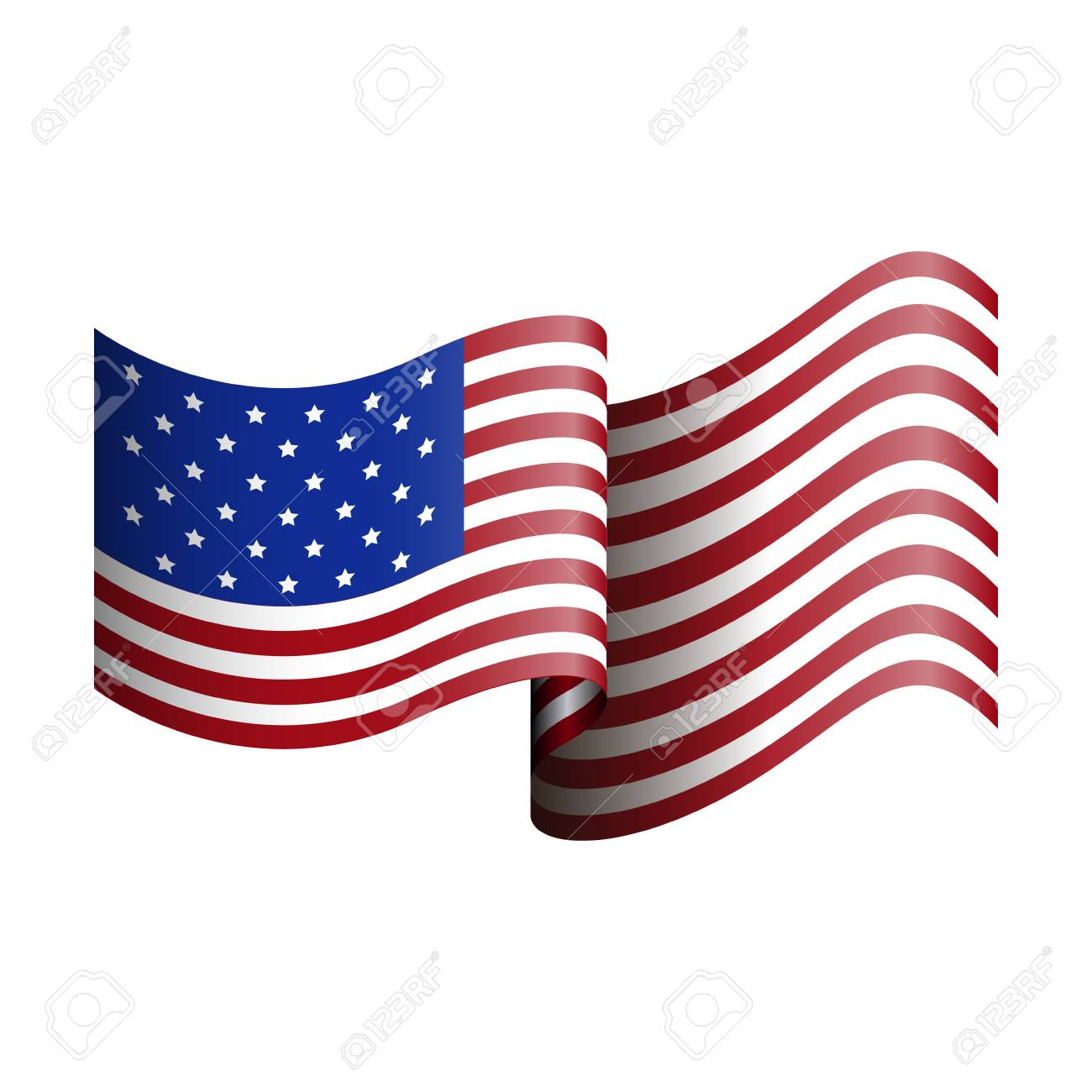 hight resolution of isolated american flag on a white background vector illustration stock vector 68918206