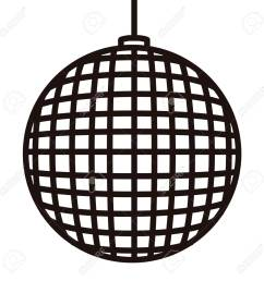 disco ball icon in black and white illustration stock vector 93795734 [ 1300 x 1300 Pixel ]