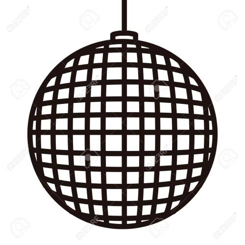 small resolution of disco ball icon in black and white illustration stock vector 93795734