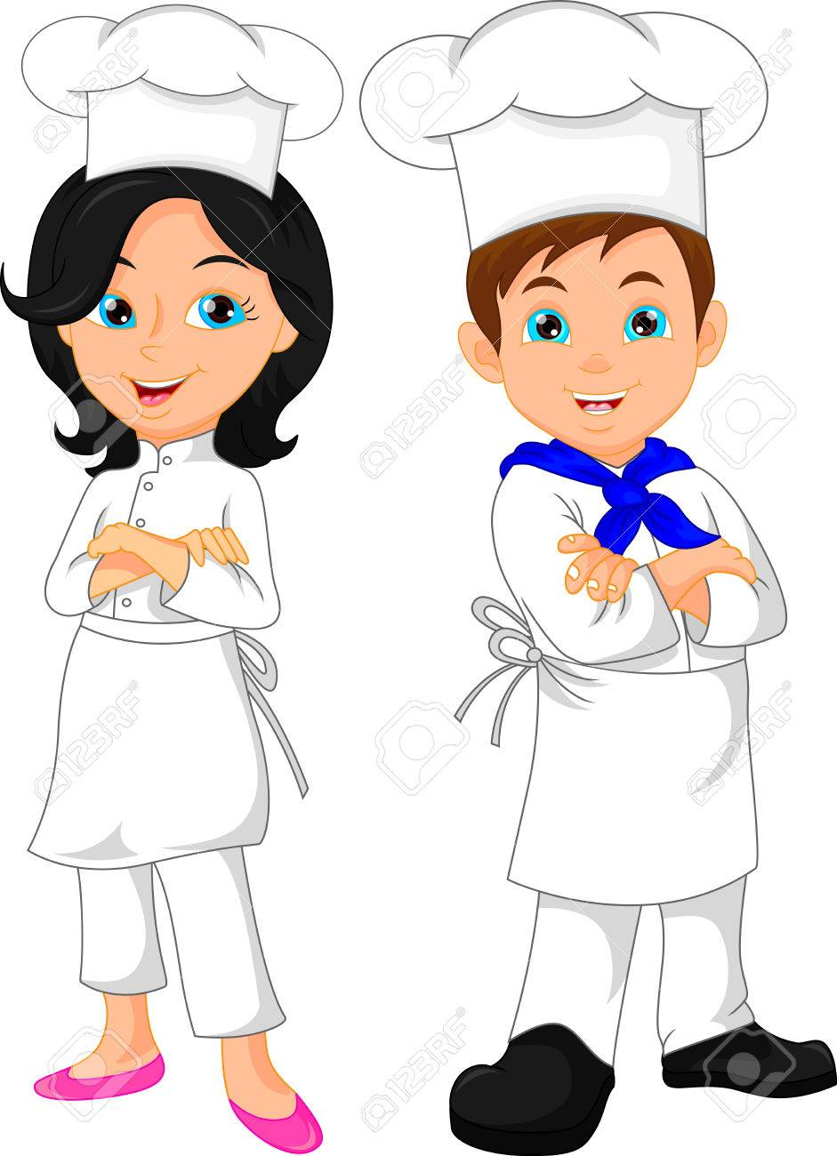 boy and girl chef