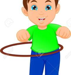 boy playing with hula hoop stock vector 80905850 [ 842 x 1300 Pixel ]