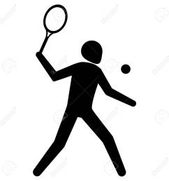 illustration is tennis sport pictogram racquetball ideal for sports and institutional materials stock vector [ 1300 x 1300 Pixel ]