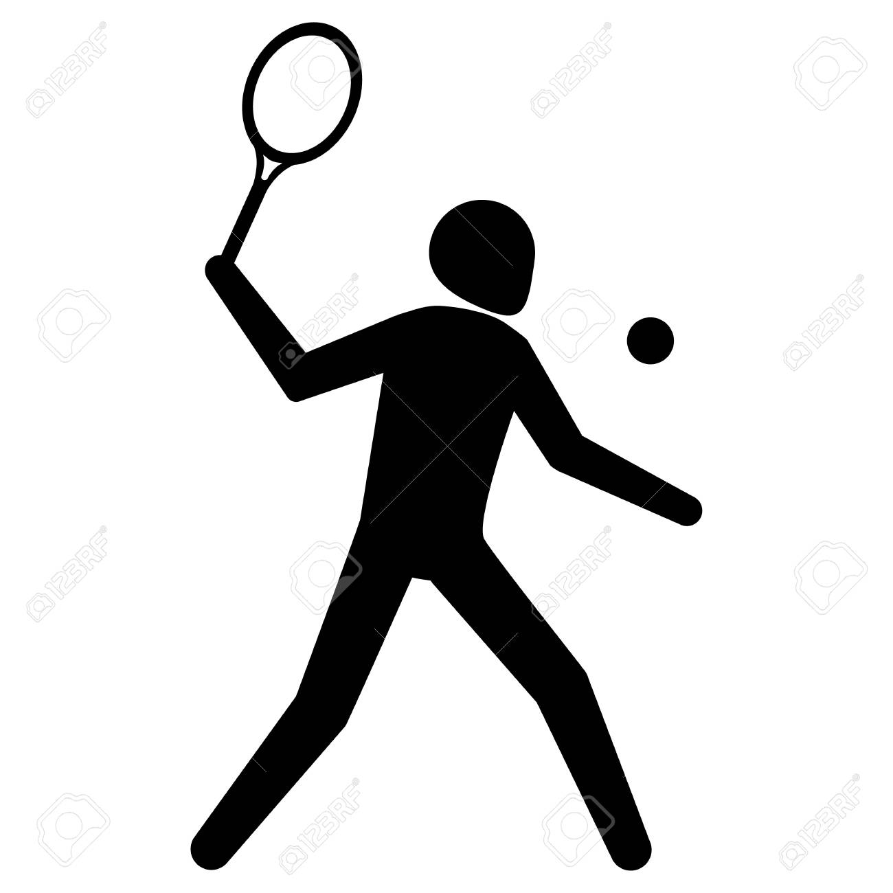 hight resolution of illustration is tennis sport pictogram racquetball ideal for sports and institutional materials stock vector