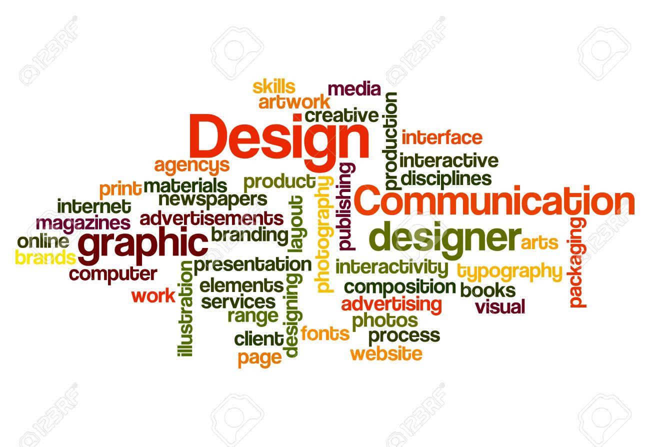 graphic design concept word