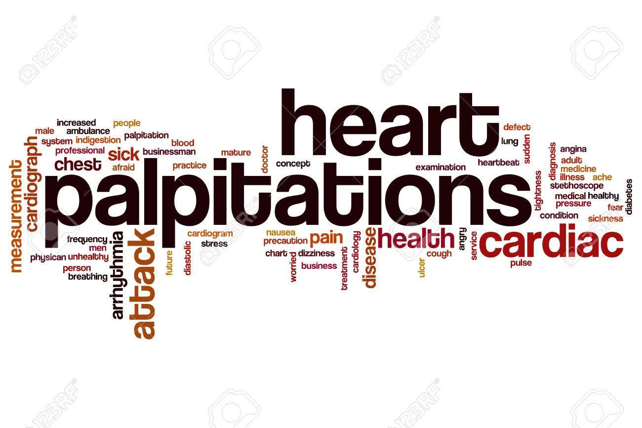 heart palpitations word cloud