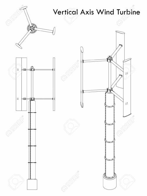 small resolution of vector vertical axis wind turbine outline only