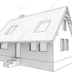 isolated diagram icon of new private house project illustration rh 123rf com diagram of house heating [ 1300 x 975 Pixel ]